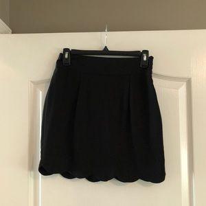 Hyfve scalloped mini pencil skirt